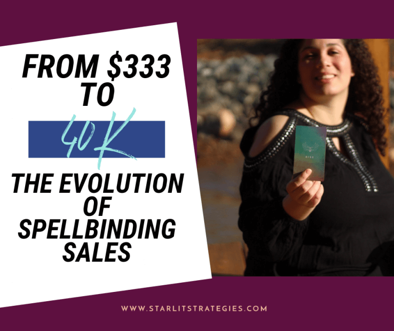 From $333 to 40k: The Evolution of Spellbinding Sales