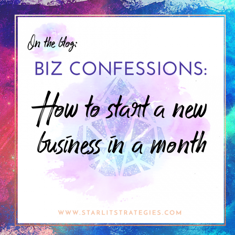 Biz Confessions: I Started A New Biz In A Month