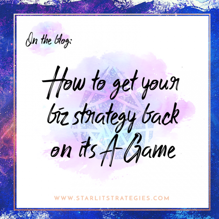 What do you do when your business gets off track?