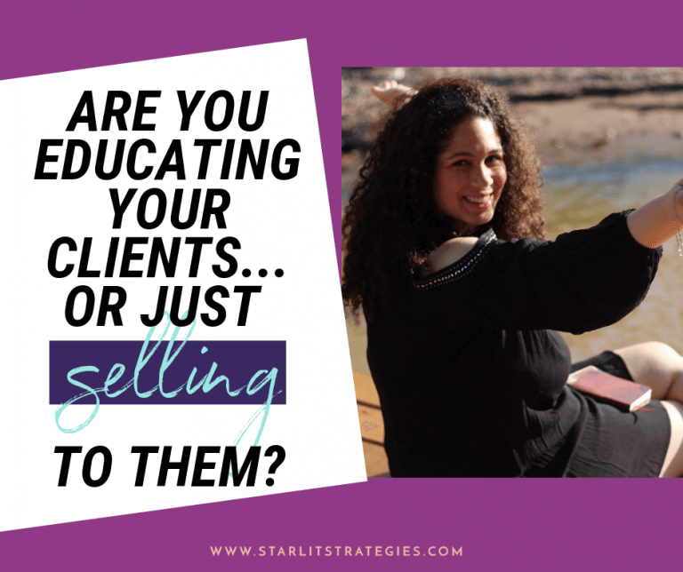 It's time to learn how to educate your clients, not just sell to them