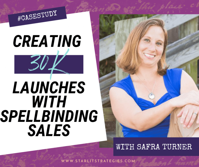 #CaseStudy: Creating 30K Launches With Spellbinding Sales: Safra Turner